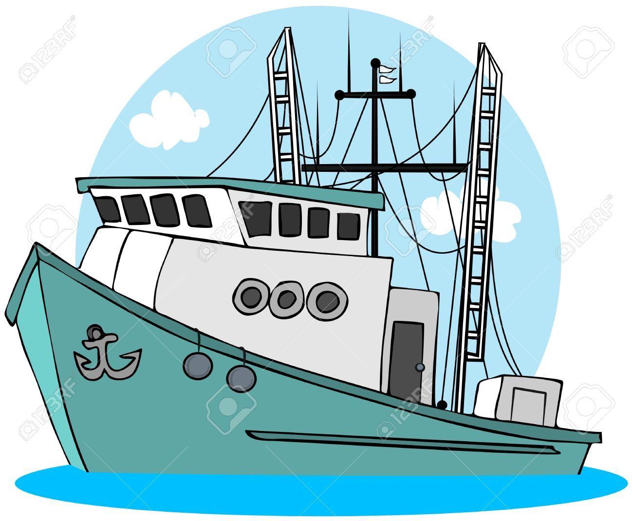 7920246 Fishing Trawler Stock Photo Boat Fishing Cartoon Jpg 1300 1070 Funny Fishing Tshirts Fishing Boats Funny Fishing Shirts