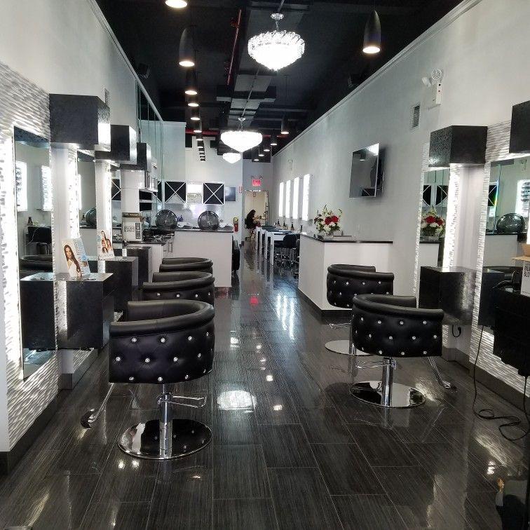 Beautiful black and white design. LED lighting clean fresh