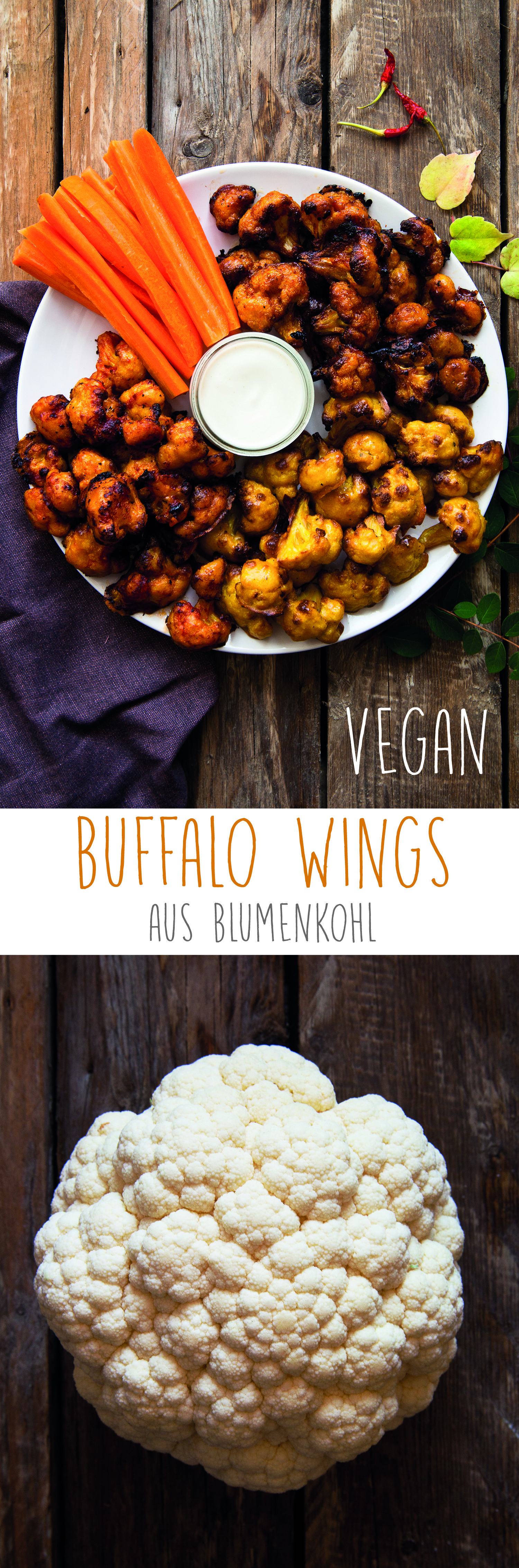 Vegane Buffalowings aus Blumenkohl | veganmom