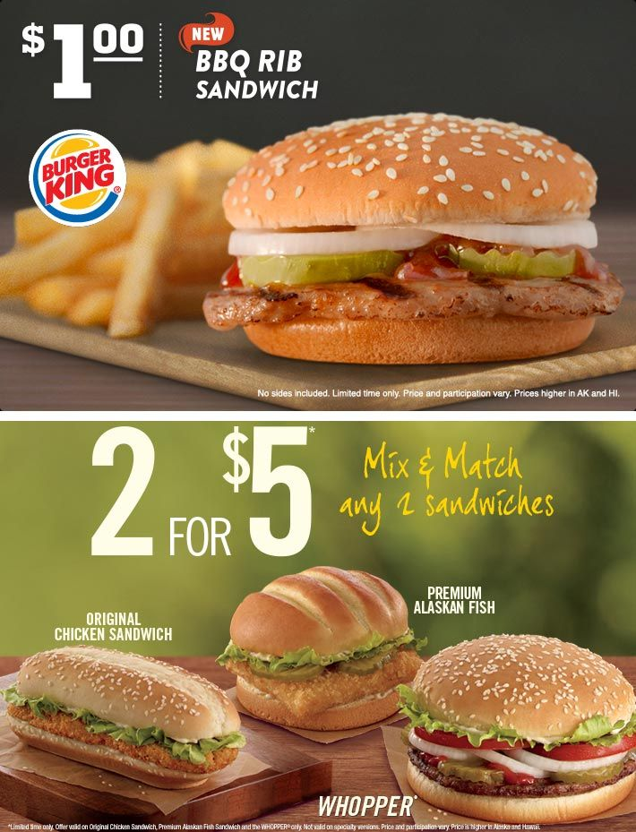 Pinned November 8th Bbq Rib Sandwich Is Just 1 Buck At Burger King Coupon Via The Coupons App Rib Sandwich Fish And Chicken Fall Recipes