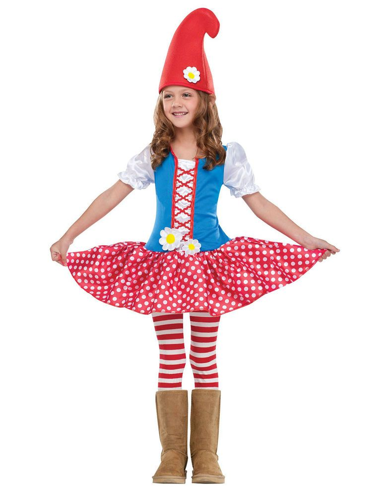 gnome flower garden dwarf princess toddler girls fancy dress halloween costume l in clothes shoes - 4t Halloween Costumes Girls
