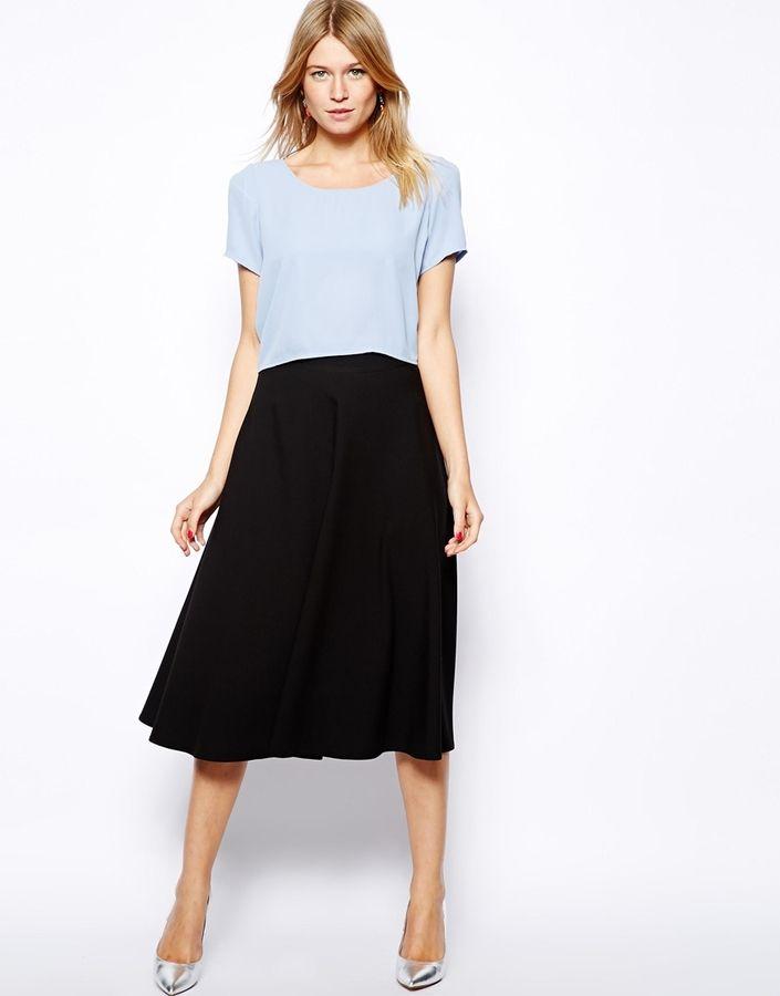 b8863b4632ab79 Love Midi Skater Skirt -in my list   Bottoms: Pants, skirts, shorts ...