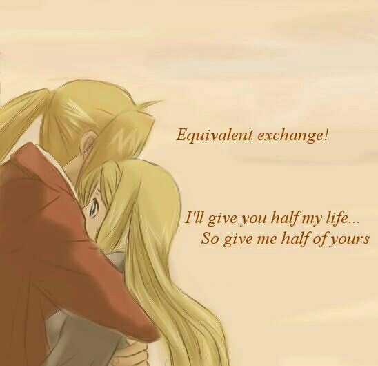 Ed And Winry Equivalent Exchange 3 Fullmetal Alchemist Alchemist Ed And Winry