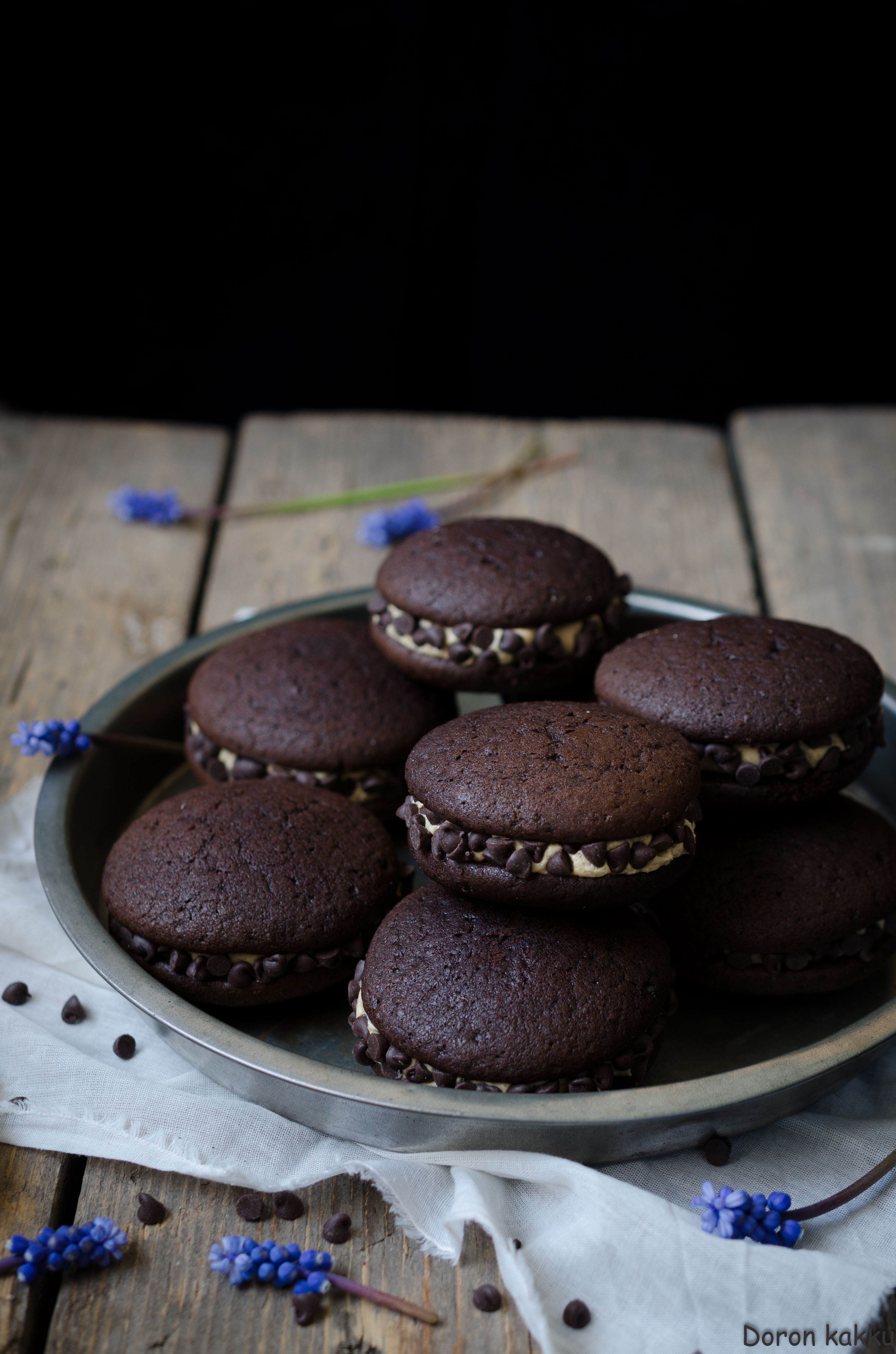 suklaa-mokkawhoopies, chocolate-coffeewhoopies