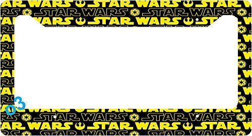 Star Wars Darth Vader Comic Strip Collage License Plate Frame Alumminum Car  Auto (A)