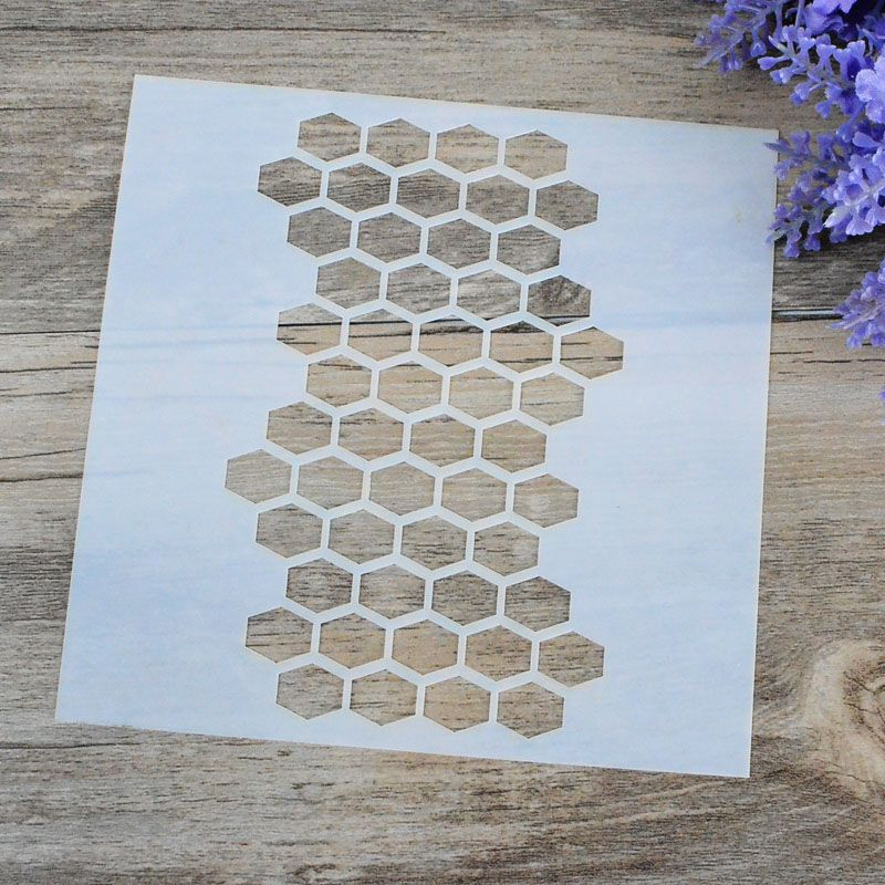 DIY Craft Honeycomb Layering Stencils For Walls Painting ...