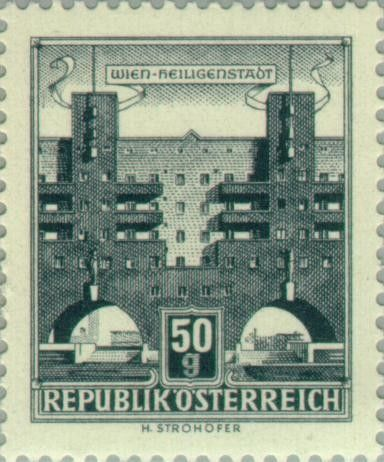 Znaczek Housing Karl Marx Hof Vienna Heiligenstadt Austria Buildings Mi At 1044x Sn At 619 Yt At 869ba Ank At 1093x Afa At 963