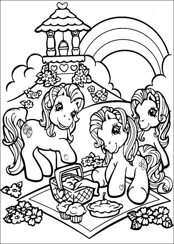 Min Lille Pony Tegninger til Farvelægning. Printbare Farvelægning ...