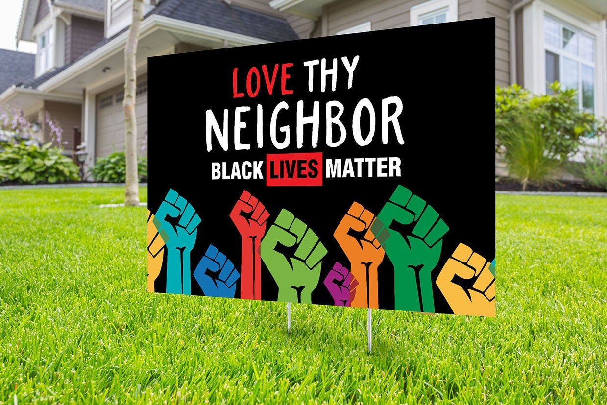 Black Lives Matter Yard Sign Design Digital File Only No Etsy Black Lives Matter Poster Black Lives Matter Protest Black Lives Matter