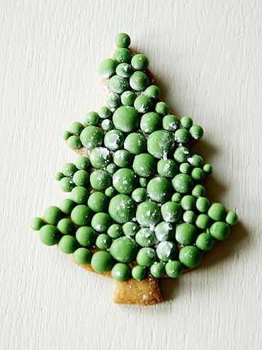 biscuits décoré sapin de Noël en pois