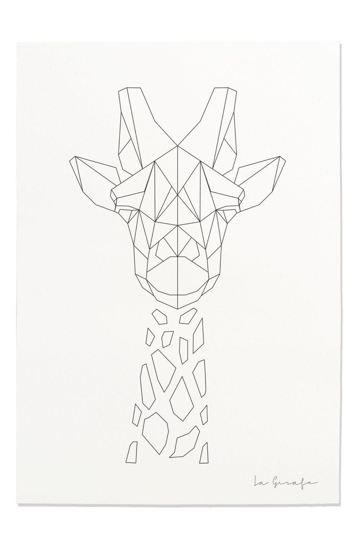 giraffe print geometric giraffe print nursery animal wall art