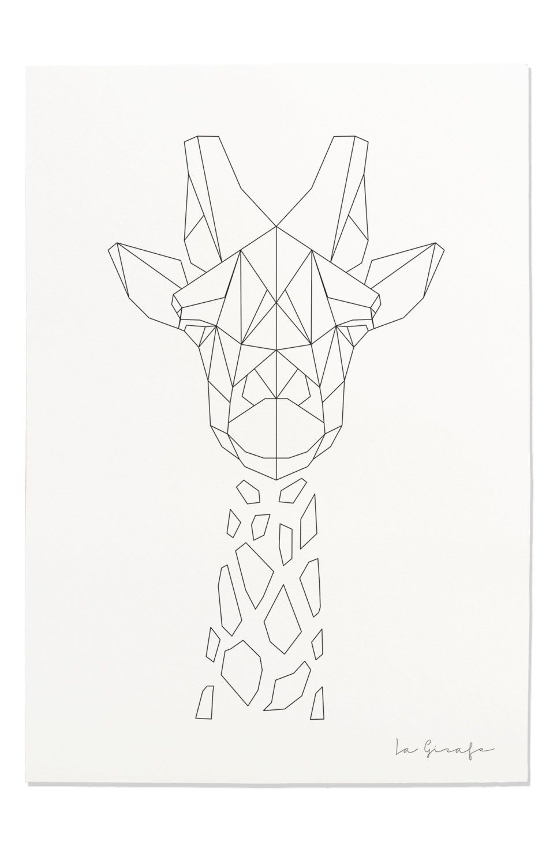 Giraffe Print Geometric Giraffe Print Nursery Animal Wall Art Black And Geometrisches Tier Geometrisch Geometrisches Zeichnen