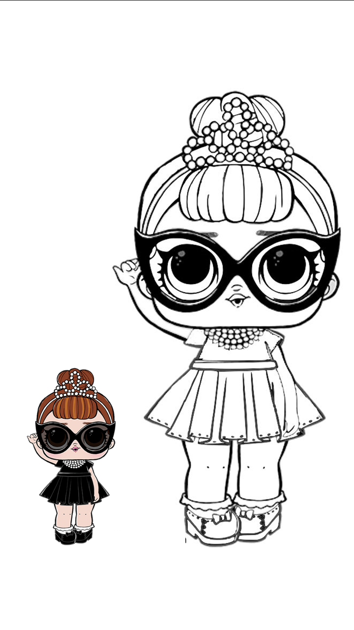Lol Modelo Para Colorear Cute Coloring Pages Cool Coloring Pages Lol Dolls
