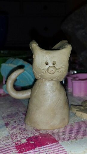 Getöpferte Katze