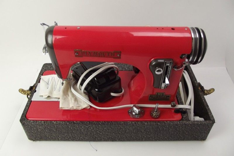 Plymouth Duchess Deluxe Sewing Machine VTG Pickup Shopgoodwill Custom Sewing Machines Plymouth