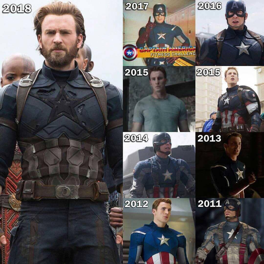 Captain America 2011 2018 Captainamerica Steverogers