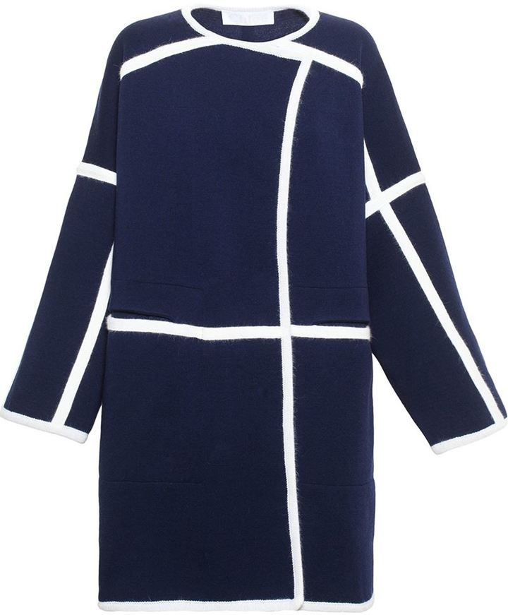 Chloé Wool Drape Coat