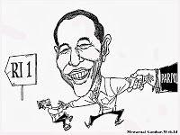 Mewarnai Gambar Kartun Joko Widodo Maju Sebagai Calon Presiden