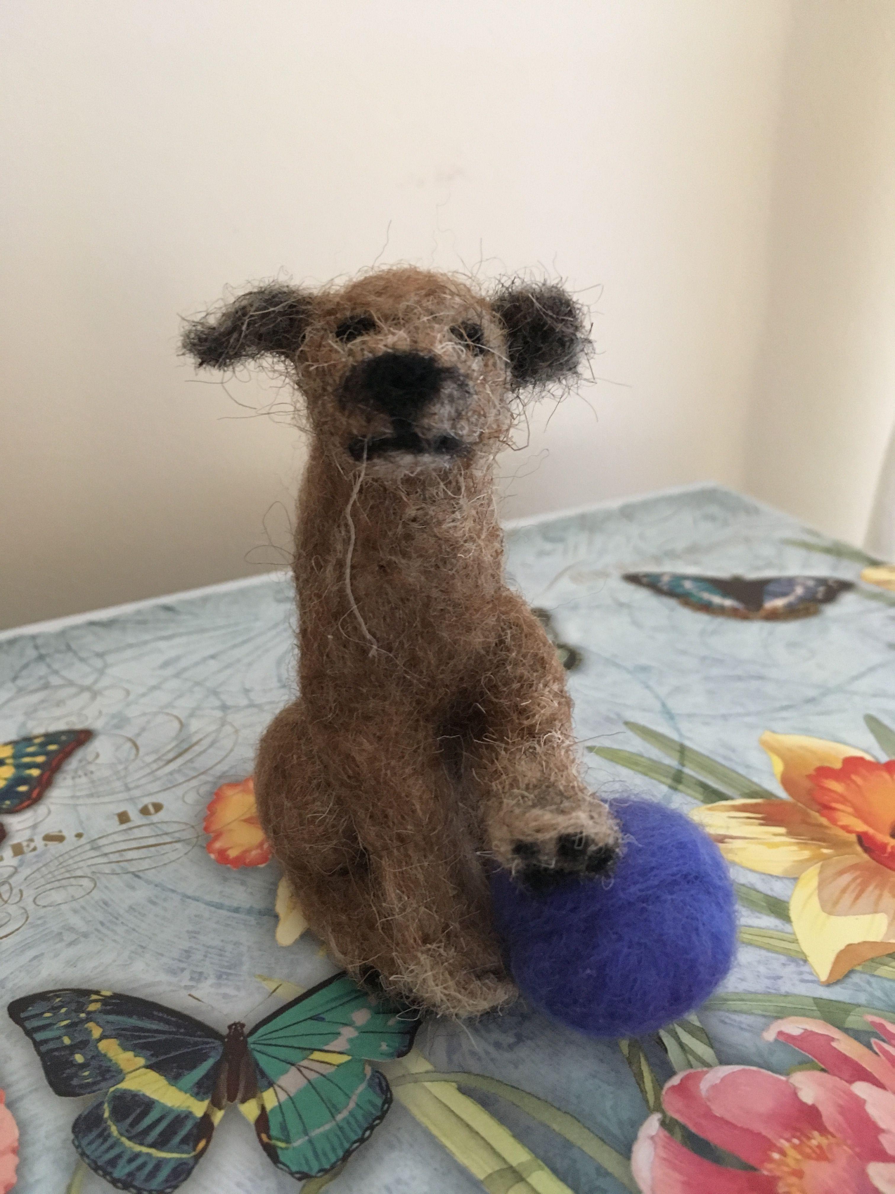 Needle Felted Border Terrier Handmade By Tess Needle Felting