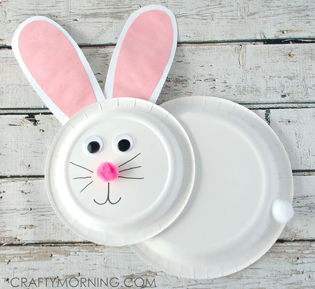 Paper Plate Bunny Rabbit Craft for Kids | Pink paper Easter crafts and Bunny rabbit & Paper Plate Bunny Rabbit Craft for Kids | Pink paper Easter crafts ...