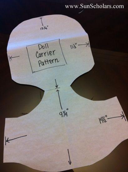 Sun Scholars: Baby Doll Carrier Tutorial | Kid Stuff | Pinterest ...