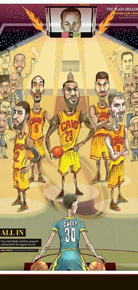 519ec3f83a0 NBA playoffs finals 2016 Cleveland Cavaliers newspaper 6 1 2016 lebron  curry  ClevelandCavaliers