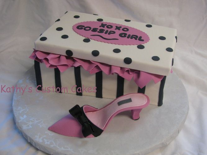 Gossip Girl Shoe Box Cake Cakes I Made Pinterest Shoe box