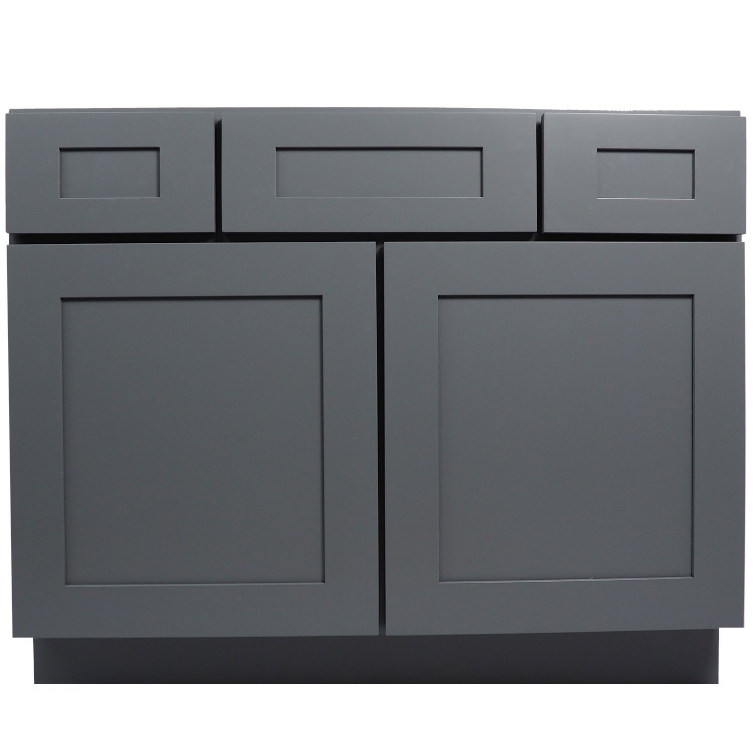 42 Inch Gray Shaker Single Sink Bathroom Vanity Cabinet