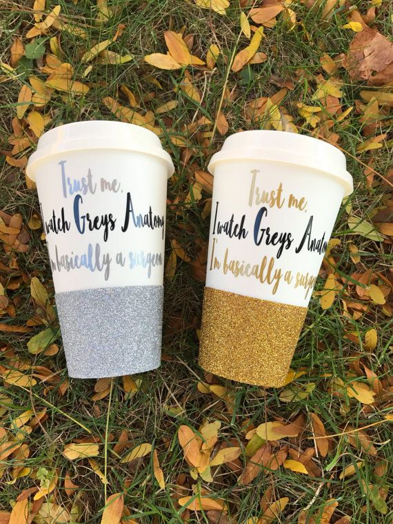 e87c84a4a1b Grey's Anatomy cup trust me glitter travel cup by three bean design ...