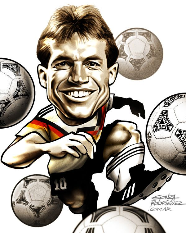 Resultado de imagen para caricatura de   Lothar Matthaus