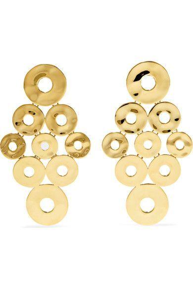 Ippolita Senso 18 Karat Gold Earrings Net A Porter Com