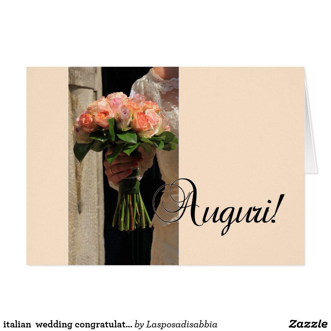 Italian Wedding Congratulations Card Wedding Congratulations Card