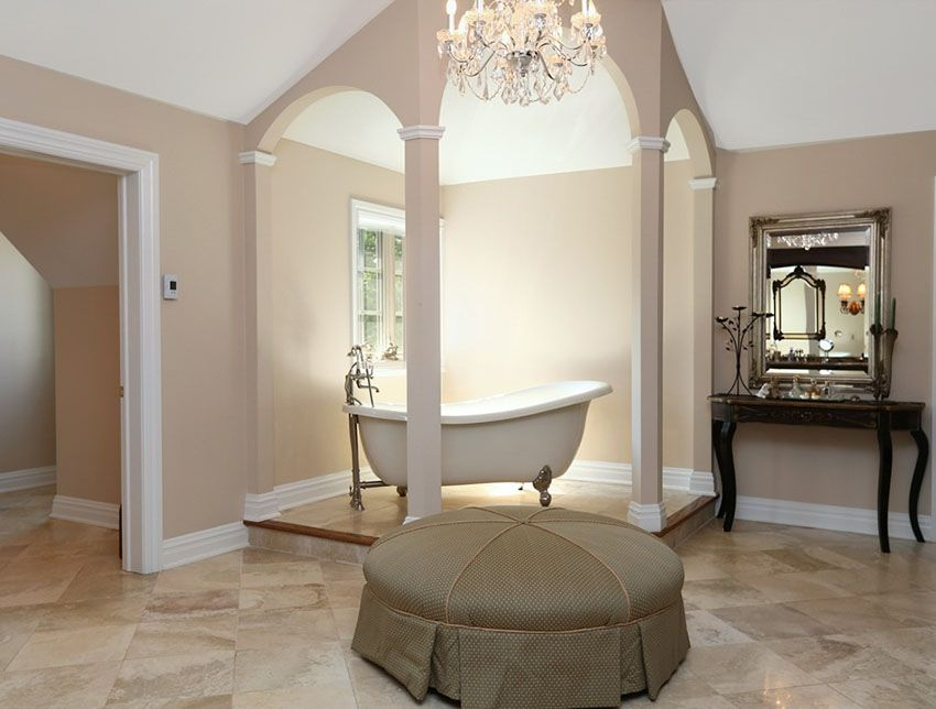 Bathroom With Clawfoot Tub Concept 27 gorgeous bathroom chandelier ideas | design inspiration