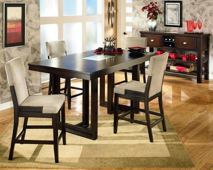 Super Pin By Yolanda Gee On Dining Bar Height Dining Table Bar Beutiful Home Inspiration Truamahrainfo