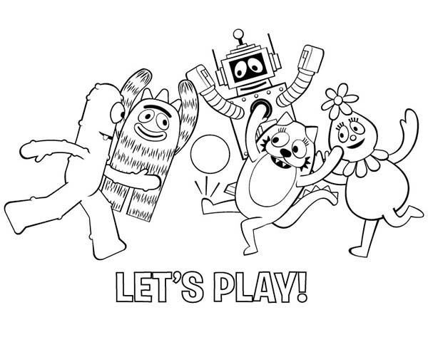 All Yo Gabba Gabba Characters Playing Football Coloring Page Coloring Sun In 2020 Nick Jr Coloring Pages Football Coloring Pages Yo Gabba Gabba