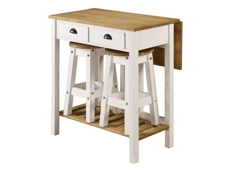Ensemble Table Pliante 2 Tabourets En Bois Massif 645451 Table Pliante Tabouret Bois Tabouret Blanc