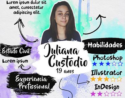 "Check out new work on my @Behance portfolio: ""Currículo Aquarela""…"