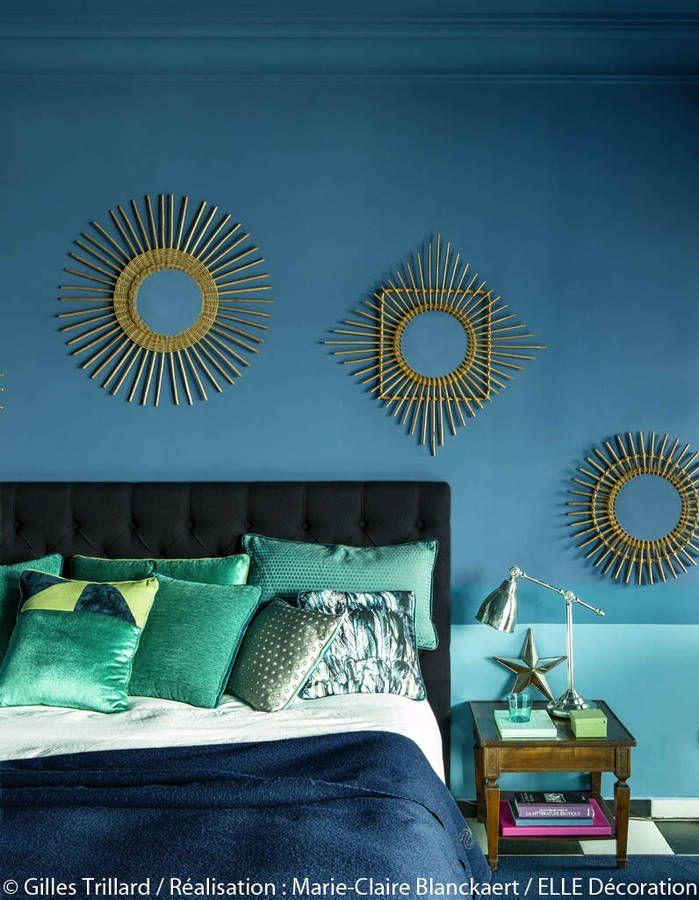 Peindre murs en bleu et vert dans appartement : sympa l ...