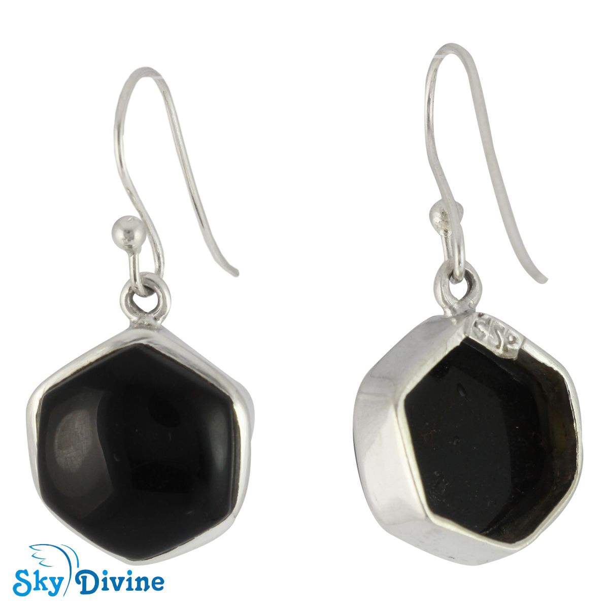 925 Sterling Silver Black onyx Earring SDER2112 | Sky Divine Jewellery, $58.44