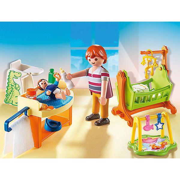 Das Babyzimmer Playmobil Nr 5304 Ist Ein Ideales Erganzungsset Zum Puppenhaus Br Br Im Grossen Alten Puppenhaus Gib Playmobil Play Mobile Babyzimmer