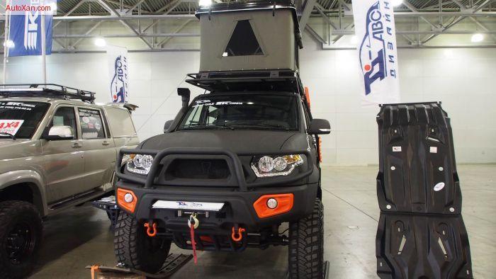 uaz patriot pickup black camper offroad tuning exterior