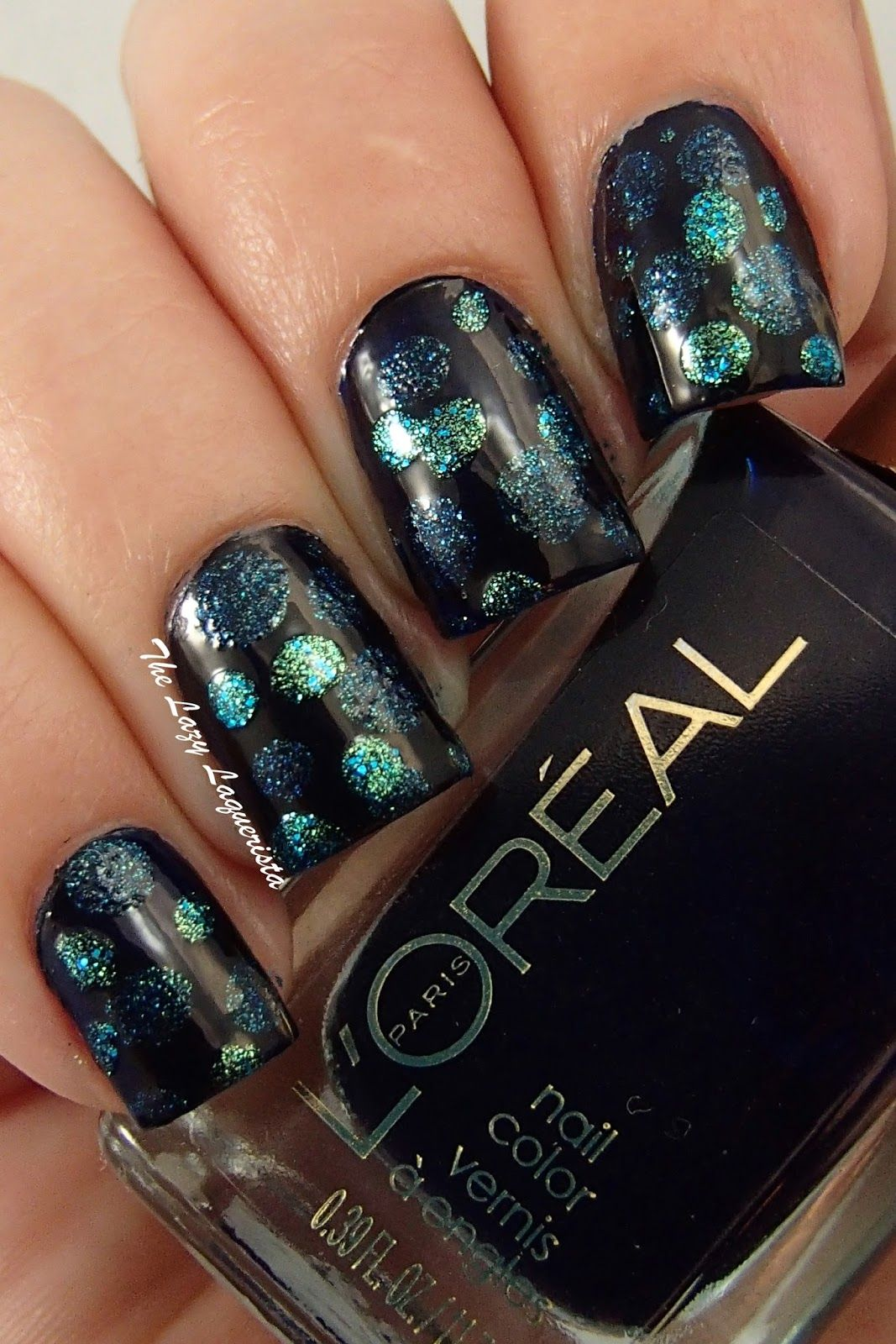 Blobicure, polka dot nail art Loreal After Hours, Essence Under ...