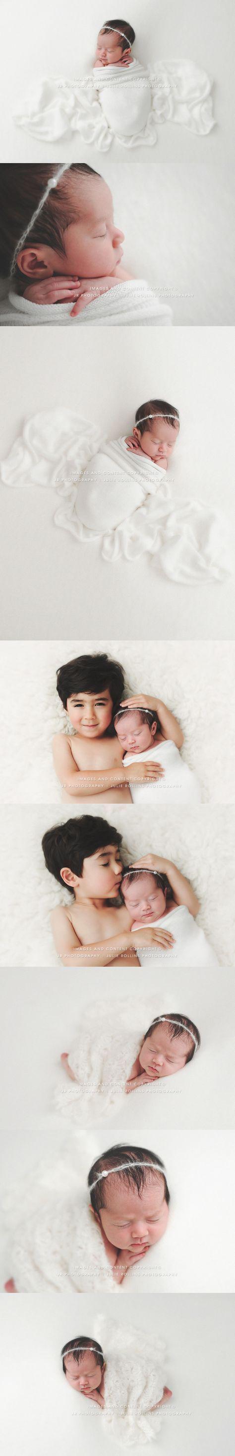 Newborn Baby Photography, neutral white, sibling newborn