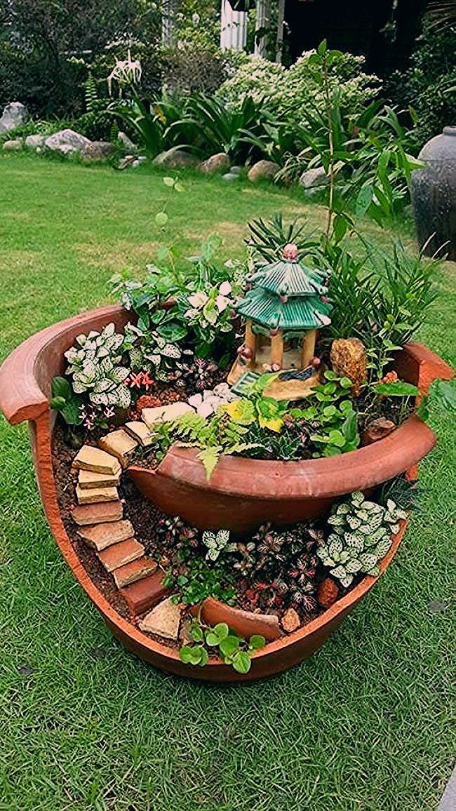 30 erstaunliche DIY-Ideen für die Dekoration Ihres Gartens einzigartig - Diy Projekt - My Blog