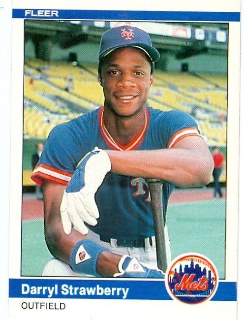 P 529705 Darryl Strawberry Baseball Card 1984 Fleer 599 New York Mets Rookie Card Aw 44120 Jpg 500 650 Pixels Baseball Cards Baseball Mets
