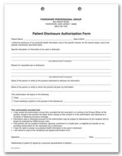 2 Part Patient Disclosure Authorization Hipaa Form Free Shipping Hipaa Business Solutions Patient
