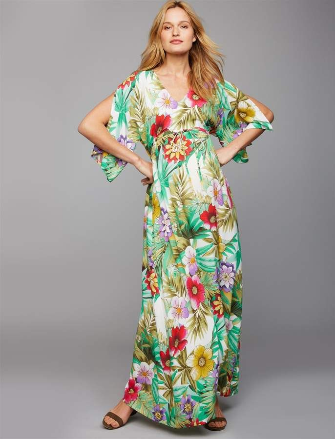 1452c80151779 Pietro Brunelli Caftan Maternity Maxi Dress in 2019 | Baby shower ...