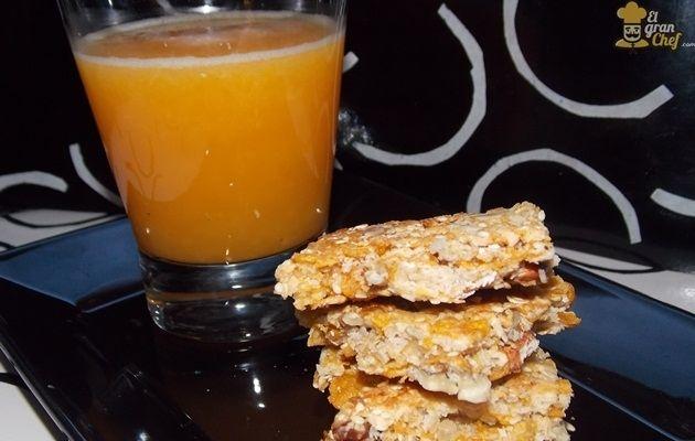 barras de cereal, hechas en casa