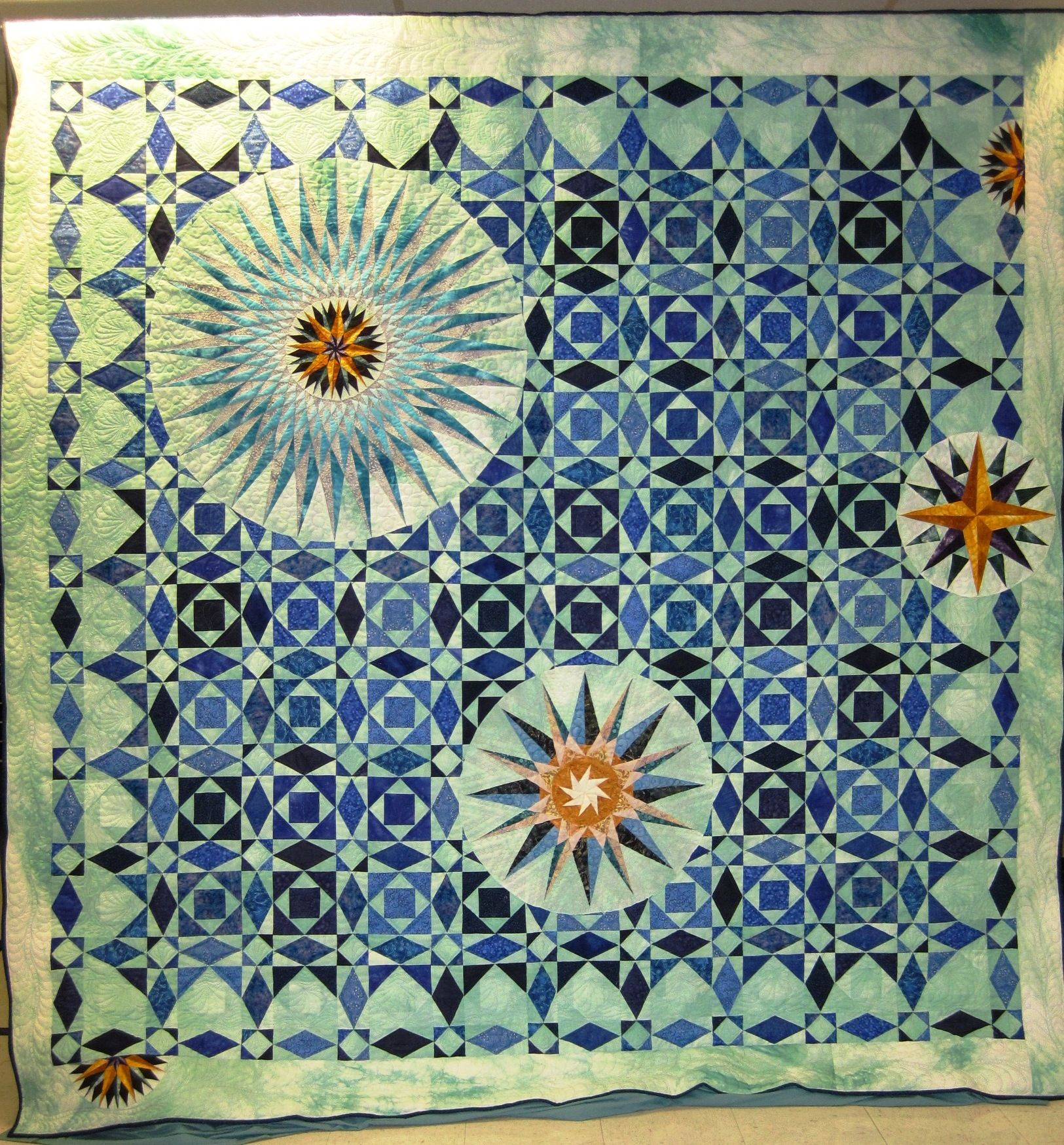 Wyoming State Quilt Guild, 2012 opportunity quilt- 2 of my ... : ocean waves quilt guild - Adamdwight.com