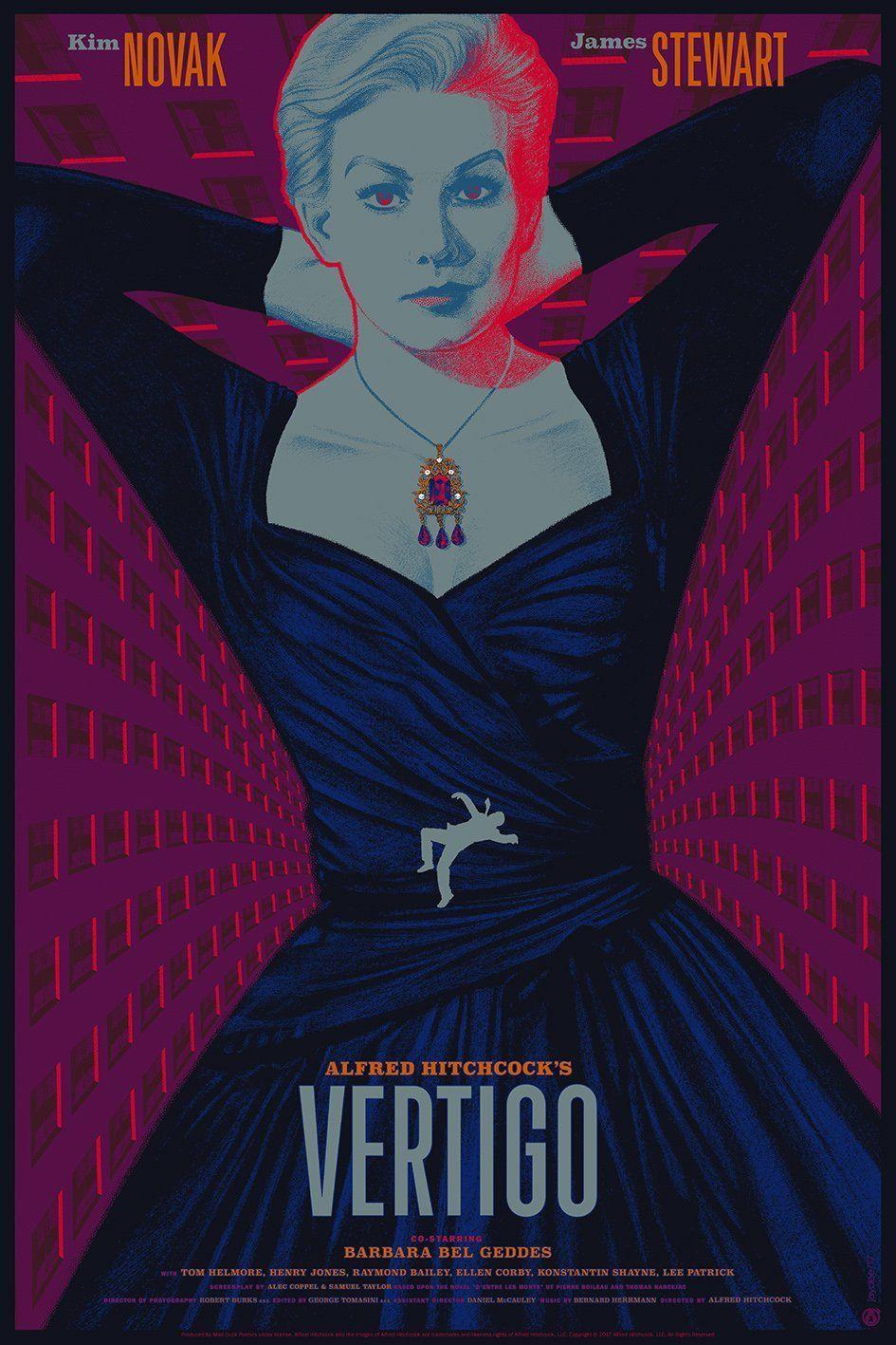 """Vertigo FRIDGE MAGNET movie poster /""""style A/"""""""